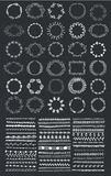 Vector set of floral frames, wreaths, dividers. Hand drawn, Stock Photos