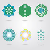 Floral mini mandalas  set Stock Images