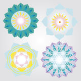 Mini mandalas icons set Stock Image