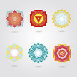 Mini mandalas and Yantras set Stock Photo