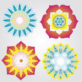 Mini mandalas icons Stock Images