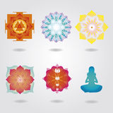 Mini mandalas esoteric set Stock Images
