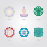 Mini mandalas icons  set Royalty Free Stock Image