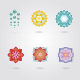 Mini mandalas  set Royalty Free Stock Image