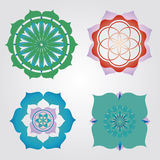 Mini mandalas set Royalty Free Stock Photos