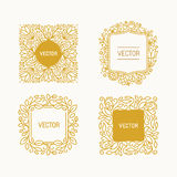 Vector set of floral monograms Royalty Free Stock Photo