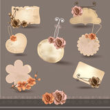 Vector set floral paper banners Stock Images