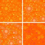 Vector set of floral patterns Stock Images