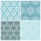 Vector set of floral seamless patterns Royalty Free Stock Images