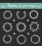 Vector set of floral wreathes Stock Image