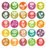 Vector set of flower icons Royalty Free Stock Photos