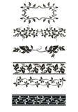 Vector set: flower ornament Stock Photos
