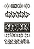Vector set: flower ornament Stock Images