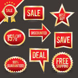 Vector Set of Foiled Sale Badges Royalty Free Stock Photography