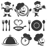 Vector set. Food concept. Royalty Free Stock Photos