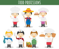 Vector Set of Food Industry Professions Royalty Free Stock Image