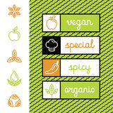 Vector set of food menu badges and labels Stock Images