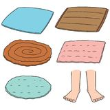 Vector set of foot wipe. Hand drawn cartoon, doodle illustration stock illustration