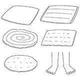 Vector set of foot wipe. Hand drawn cartoon, doodle illustration vector illustration