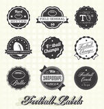 Vector Set: Football Champs Labels and Icons. Collection of football champion labels and icons Stock Photo