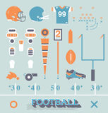Vector Set: Football Equipment Icons And Symbols Royalty Free Stock Photography