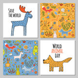 Vector set of forest animals Royalty Free Stock Images