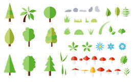 Vector set of forest elements Stock Image