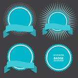 Vector set of four badges with ribbon Stock Images