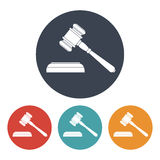 Vector set of four colorful court hammer icons Royalty Free Stock Image