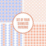Vector set of four Cute Patterns. Seamless texture for paper or Stock Photo