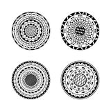 Vector set of four mandalas. Ethnic decorative round ornament. C Stock Images