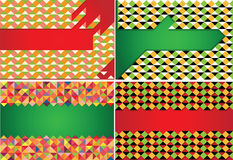 Vector set of four patterns Royalty Free Stock Photos