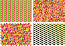 Vector set of four patterns Stock Photo