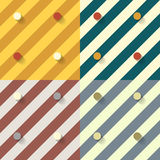 Vector set of four patterns and backgrounds Royalty Free Stock Images