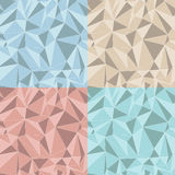 Vector set of four patterns and backgrounds Stock Image