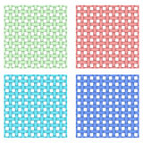 Vector set with four seamless patterns. Royalty Free Stock Photography