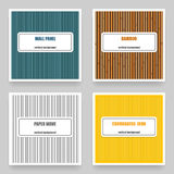 Vector set of four vertical material textures. Stock Photography