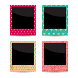Vector set of four vintage photo frames Royalty Free Stock Image