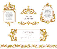 Vector set frame, border in Victorian style.