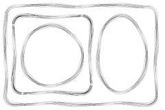Set of Frame, Multiple Lines, for Certificate, Placard and other. Vector Set of Frame, Multiple Lines, for Certificate, Placard and other Stock Images