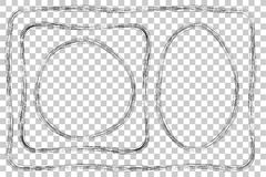 Set of Frame, Multiple Lines, for Certificate, Placard and other, at Transparent Effect Background. Vector Set of Frame, Multiple Lines, for Certificate, Placard Royalty Free Stock Photography