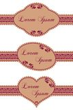 Vector set of framed ornate labels Stock Photography