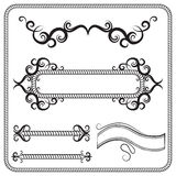 Vector set of frames, decorated with swirls. The illustration Royalty Free Stock Photos