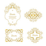 Vector set frames Royalty Free Stock Image
