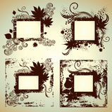 Vector set of frames with Leafs. Thanksgiving. Vector set of vintage grunge frames with Autumn Leafs. Thanksgiving (from my big Natural collection Royalty Free Stock Photo
