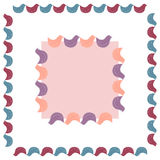 Vector set of frames. Vector set of small and big bird cute square frames Royalty Free Stock Photos