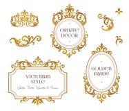 Vector set frames, vignette for design template.