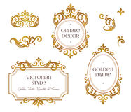 Vector set frames, vignette for design template. Royalty Free Stock Photography