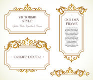 Vector set frames, vignette in Victorian style. Stock Image