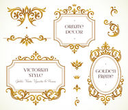 Vector set frames, vignette in Victorian style. Stock Images